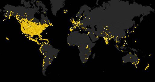 GBBC Countries 2013 (Source: http://gbbc.birdcount.org/)