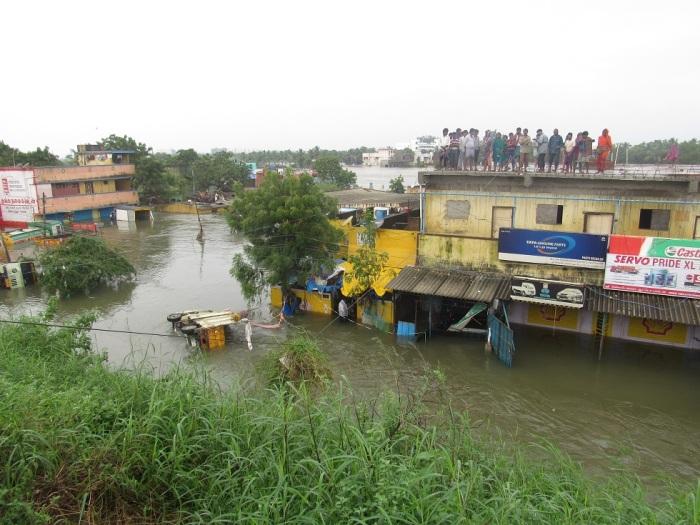 2015 சென்னை வெள்ளம். Photo: Wikimedia Commons